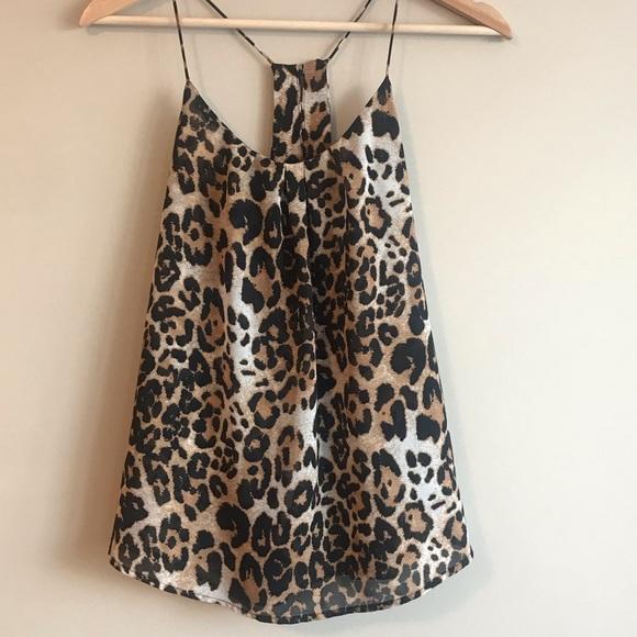 Seductions Cami Tank Top -Leopard Print